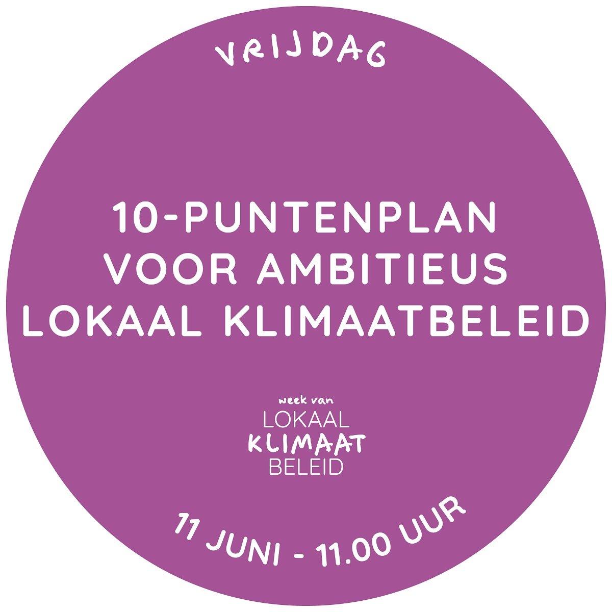 10-puntenplan voor Lokaal Klimaatbeleid - Klimaatverbond Nederland